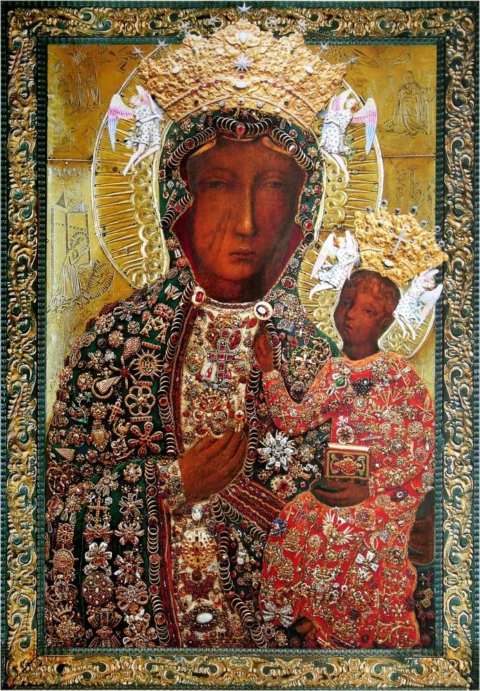 Znalezione obrazy dla zapytania jasna góra matka boża